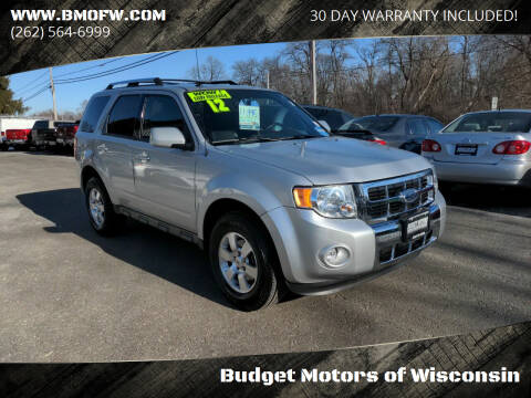 2012 Ford Escape for sale at Budget Motors of Wisconsin in Racine WI