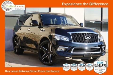 2016 Infiniti QX80 for sale at Dallas Auto Finance in Dallas TX