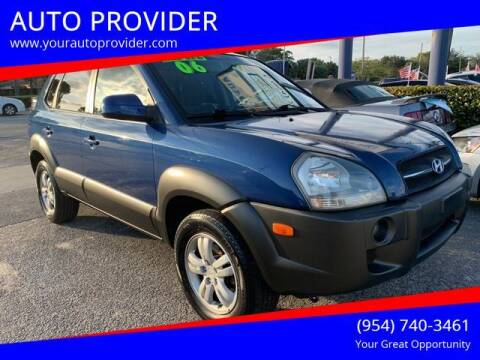 2006 Hyundai Tucson for sale at AUTO PROVIDER in Fort Lauderdale FL