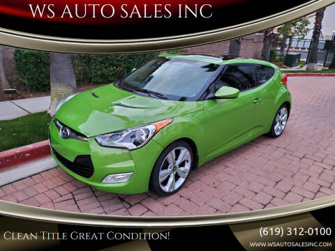 2012 Hyundai Veloster for sale at WS AUTO SALES INC in El Cajon CA