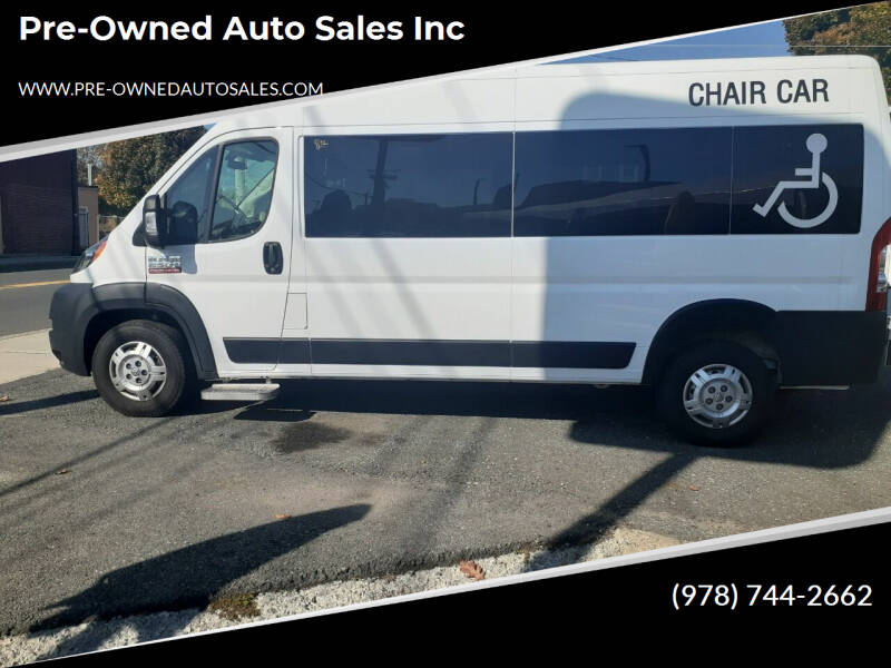 2019 RAM ProMaster Window for sale at Pre-Owned Auto Sales Inc in Salem MA