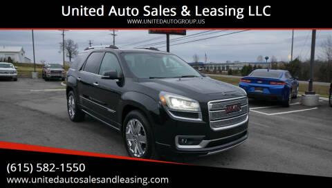 2013 GMC Acadia for sale at United Auto Sales & Leasing LLC in La Vergne TN