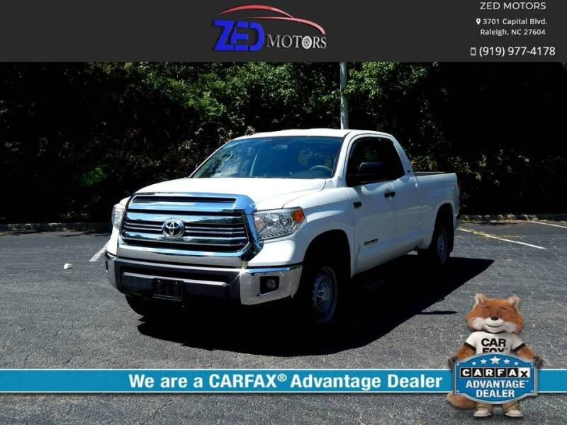 2017 Toyota Tundra for sale at Zed Motors in Raleigh NC