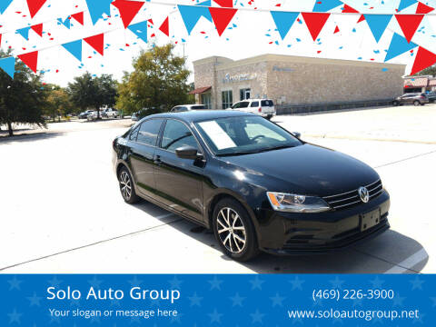 2016 Volkswagen Jetta for sale at Solo Auto Group in Mckinney TX