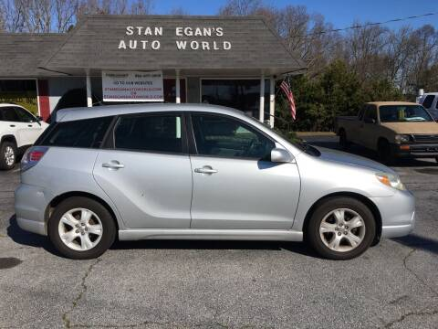 2006 Toyota Matrix for sale at STAN EGAN'S AUTO WORLD, INC. in Greer SC