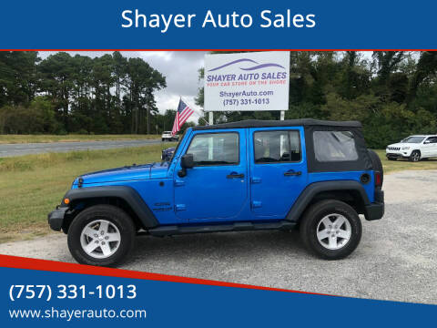 2015 Jeep Wrangler Unlimited for sale at Shayer Auto Sales in Cape Charles VA