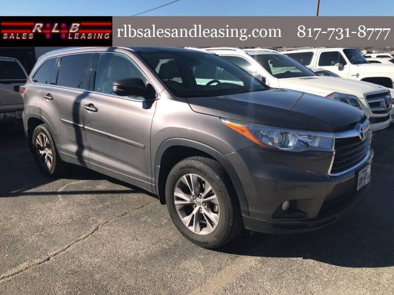 2015 Toyota Highlander for sale at RLB Sales and Leasing in Fort Worth TX