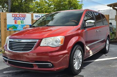 2013 Chrysler Town and Country for sale at ALWAYSSOLD123 INC in Fort Lauderdale FL