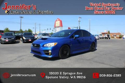 2015 Subaru WRX for sale at Jennifer's Auto Sales in Spokane Valley WA