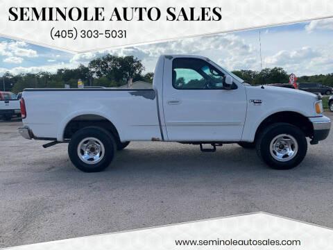 1999 Ford F-150 for sale at Seminole Auto Sales in Seminole OK