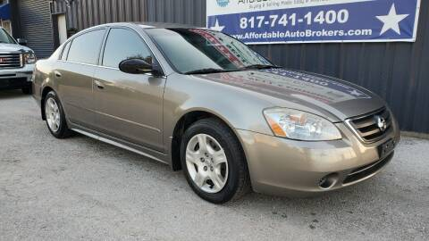 2002 Nissan Altima for sale at AFFORDABLE AUTO BROKERS in Keller TX