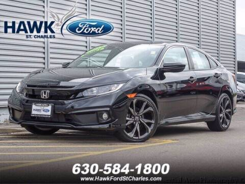 2019 Honda Civic for sale at Hawk Ford of St. Charles in Saint Charles IL