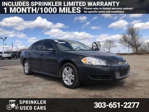 2012 Chevrolet Impala for sale at Sprinkler Used Cars in Longmont CO