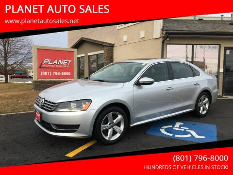 2012 Volkswagen Passat for sale at PLANET AUTO SALES in Lindon UT