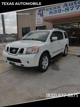 2014 Nissan Armada for sale at TEXAS AUTOMOBILE in Houston TX