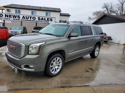 2017 GMC Yukon XL for sale at GOOD NEWS AUTO SALES in Fargo ND