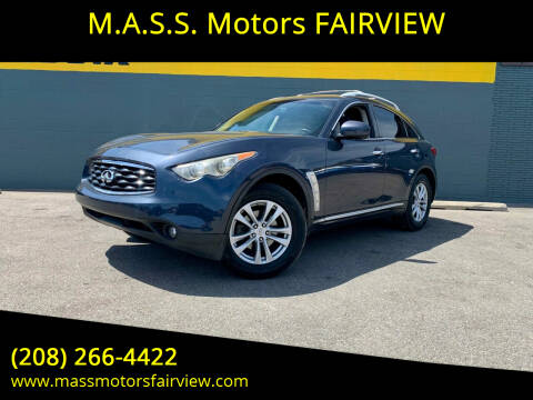 2009 Infiniti FX35 for sale at M.A.S.S. Motors - Fairview in Boise ID