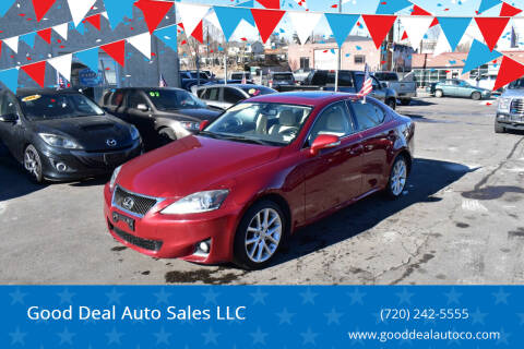 2012 Lexus IS 250 for sale at Good Deal Auto Sales LLC in Denver CO