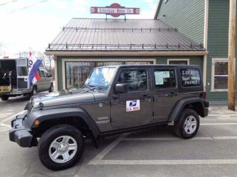 2016 Jeep Wrangler Unlimited for sale at SCHURMAN MOTOR COMPANY in Lancaster NH
