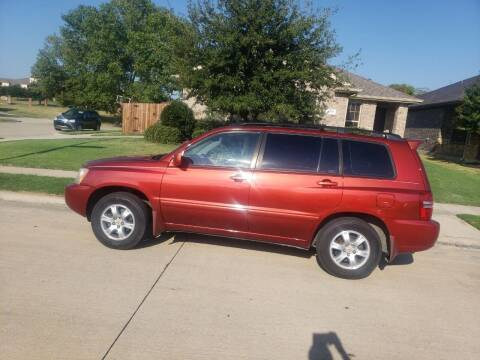 2001 Toyota Highlander for sale at El Jasho Motors in Grand Prairie TX