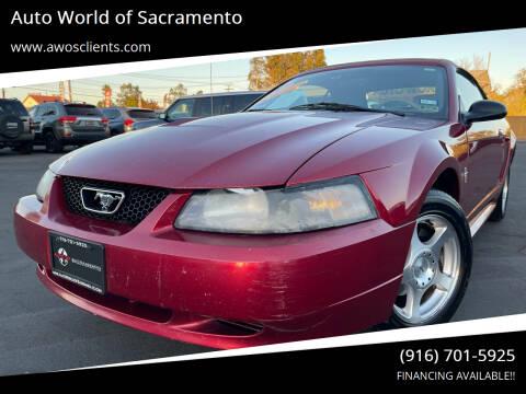 2003 Ford Mustang for sale at Auto World of Sacramento Stockton Blvd in Sacramento CA