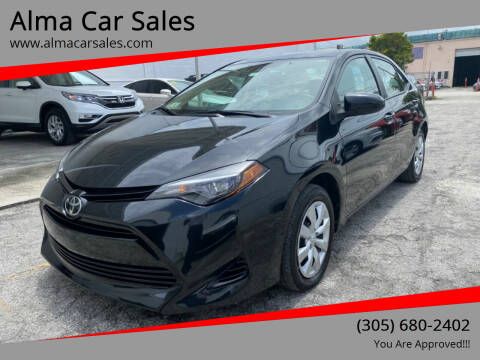 2018 Toyota Corolla for sale at Alma Car Sales in Miami FL