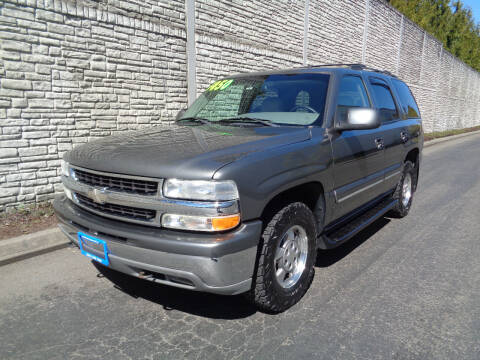2002 Chevrolet Tahoe for sale at Matthews Motors LLC in Algona WA
