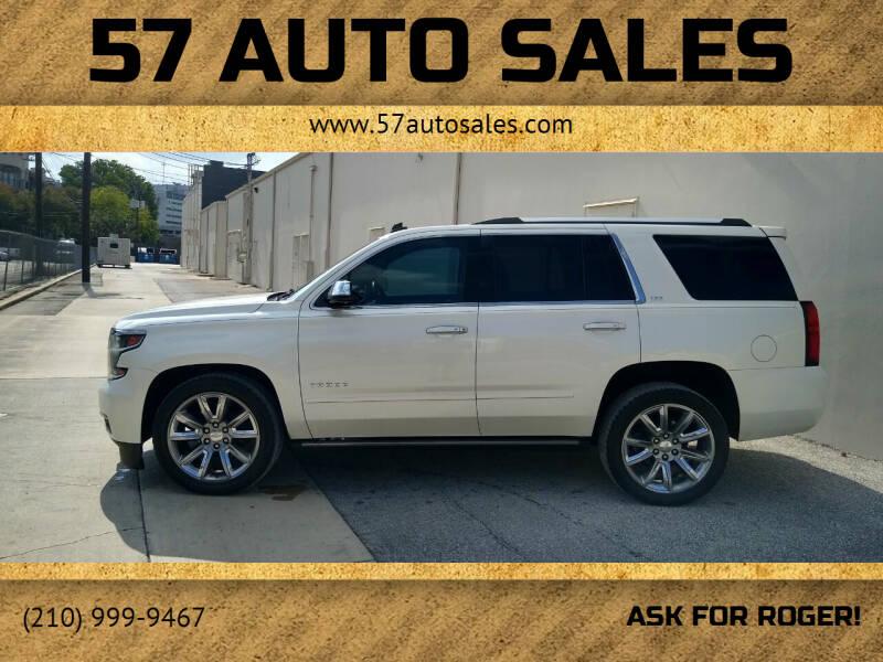 2015 Chevrolet Tahoe for sale at 57 Auto Sales in San Antonio TX