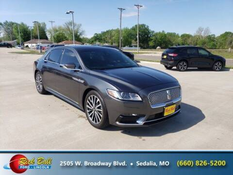 2018 Lincoln Continental for sale at RICK BALL FORD in Sedalia MO