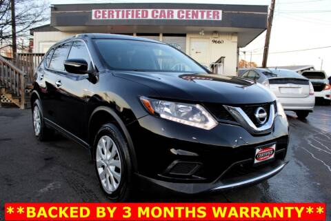2015 Nissan Rogue for sale at CERTIFIED CAR CENTER in Fairfax VA
