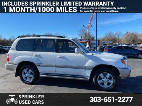 2003 Toyota Land Cruiser for sale at Sprinkler Used Cars in Longmont CO