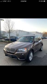 2013 BMW X3 for sale at MCQ SALES INC in Upton MA