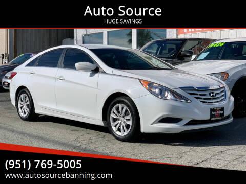 2012 Hyundai Sonata for sale at Auto Source in Banning CA