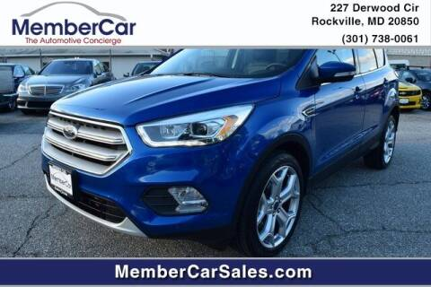 2019 Ford Escape for sale at MemberCar in Rockville MD