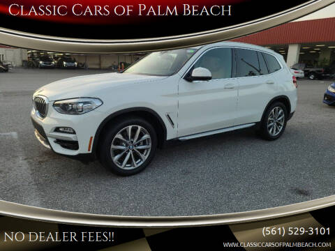 2018 BMW X3 for sale at Classic Cars of Palm Beach in Jupiter FL