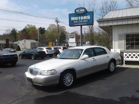 2004 Lincoln Town Car for sale at Route 106 Motors in East Bridgewater MA