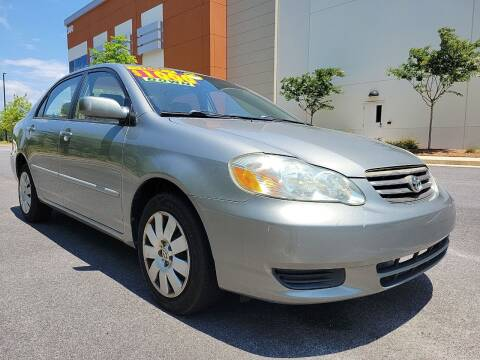 2003 Toyota Corolla for sale at ELAN AUTOMOTIVE GROUP in Buford GA