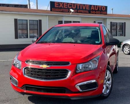 2015 Chevrolet Cruze for sale at Executive Auto in Winchester VA