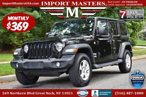 2018 Jeep Wrangler Unlimited for sale at European Masters in Great Neck NY