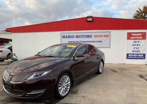2013 Lincoln MKZ for sale at Mario Motors in South Houston TX