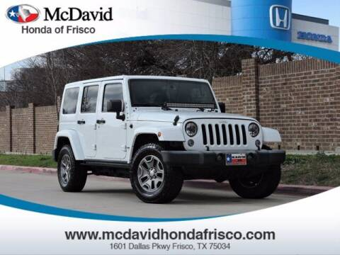 2015 Jeep Wrangler Unlimited for sale at DAVID McDAVID HONDA OF IRVING in Irving TX