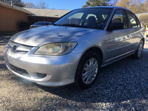 2005 Honda Civic for sale at Efficiency Auto Buyers in Milton GA