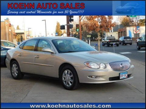 2008 Buick LaCrosse for sale at Koehn Auto Sales in Lindstrom MN