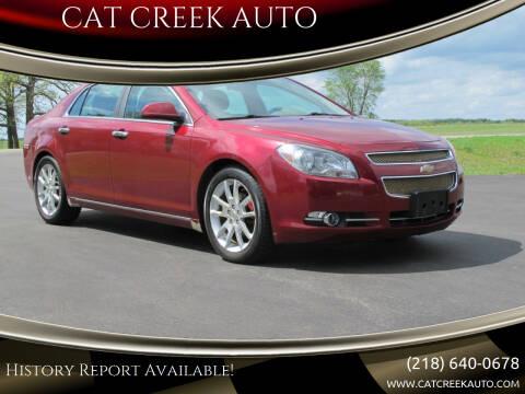 2011 Chevrolet Malibu for sale at CAT CREEK AUTO in Menahga MN