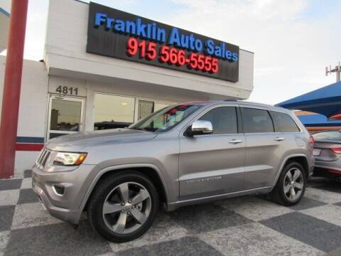 2014 Jeep Grand Cherokee for sale at Franklin Auto Sales in El Paso TX