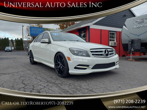 2011 Mercedes-Benz C-Class for sale at Universal Auto Sales Inc in Salem OR