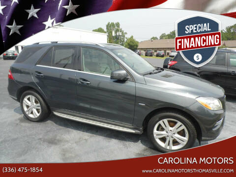 2012 Mercedes-Benz M-Class for sale at CAROLINA MOTORS in Thomasville NC