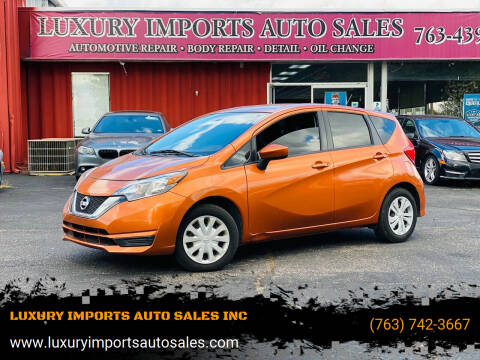 2017 Nissan Versa Note for sale at LUXURY IMPORTS AUTO SALES INC in North Branch MN
