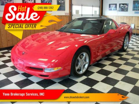 2001 Chevrolet Corvette for sale at Yono Brokerage Services, INC in Farmington MI