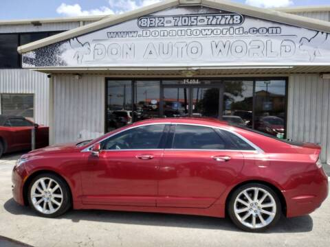2015 Lincoln MKZ for sale at Don Auto World in Houston TX
